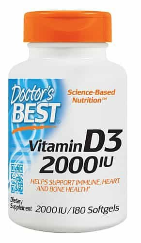 Vitamin D3, Doctor Best, 2.000 IU, 180 capsulas