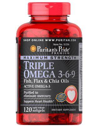 Triplo Ômega 3-6-9 Força Máxima com óleo de linhaça, óleo de peixe e óleos de chia