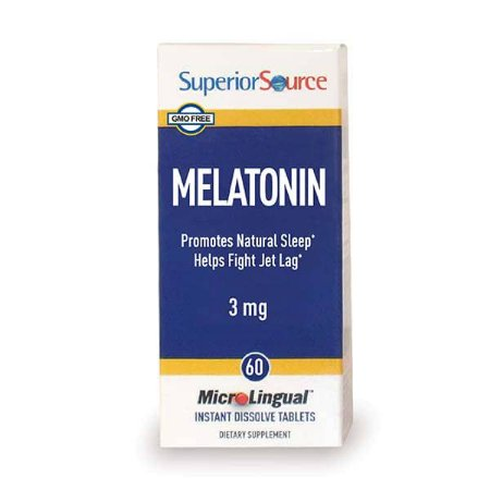 Melatonina 3mg, Superior Source, 60 comprimidos MicroLingual instantâneos dissolvível