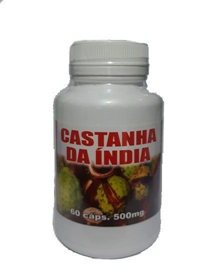 Castanha da índia 500mg, 60 capsulas, Flora viva