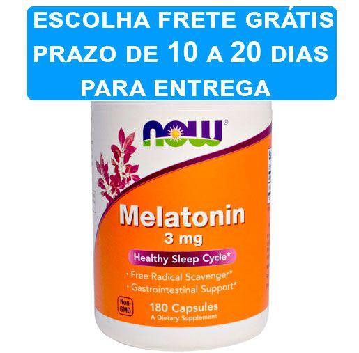 Melatonina 3 mg - Now Foods - 180 cápsulas