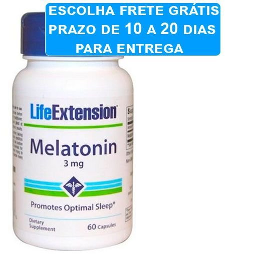 Melatonina, 3 mg, 60 capsulas, Life Extension