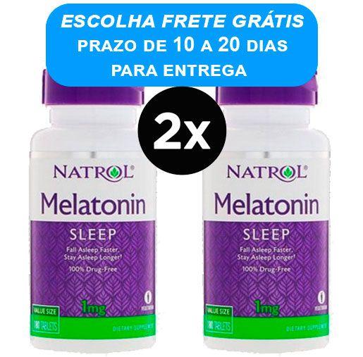 2X Melatonina 1mg Natrol 180 comprimidos
