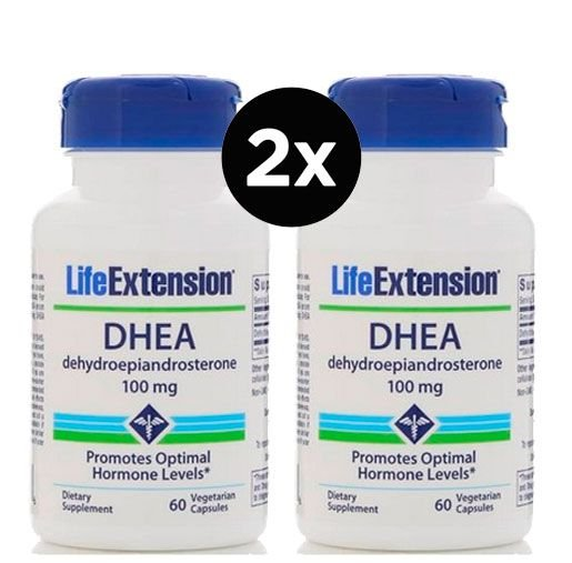 2x Dhea Life Extension 100 mg, 60 Capsulas