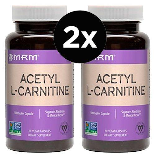 2x Acetil L-Carnitina 500 mg - MRM - 60 cápsulas