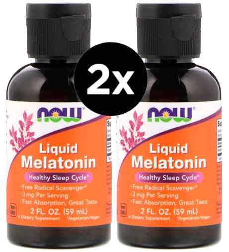 2X Melatonina Liquida 3mg (60 ml) - Now Foods