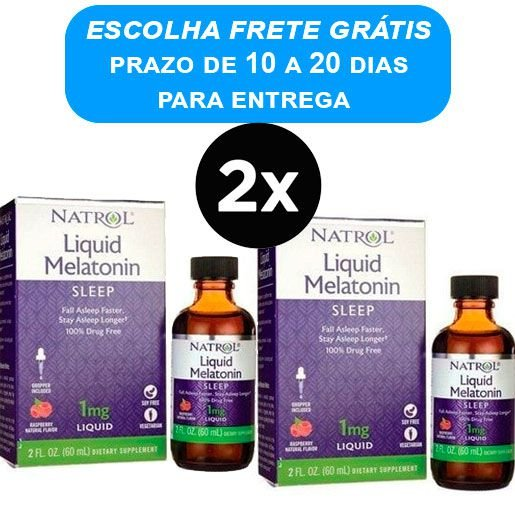 2X Melatonina Liquida 1mg - (60 ml) -Natrol