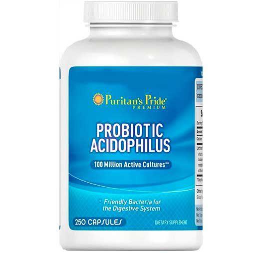 Probiótico 250 Capsulas - 100 milhões de Lactobacillus - Acidophilus