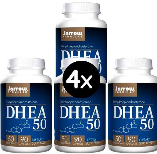 4x DHEA 50 mg - Jarrow Formulas - 90 cápsulas