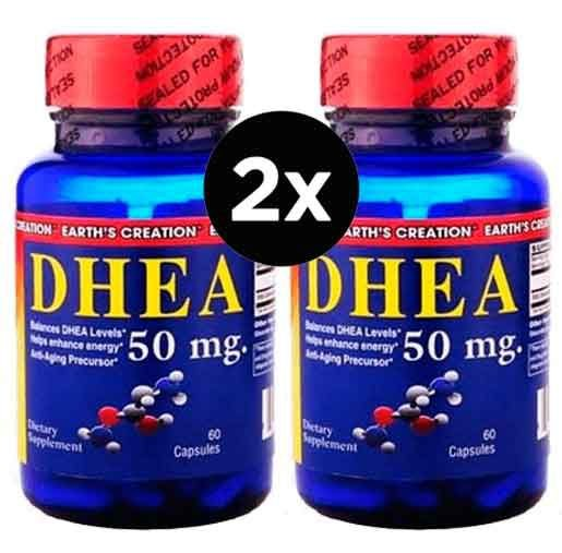 2X DHEA 50MG Earth's Creation  - 60 CÁPSULAS
