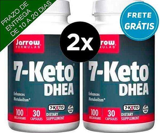 2X 7-Keto DHEA 100 mg - Jarrow Formulas - 30 cápsulas (TOTAL DE 60 CAPSULAS)