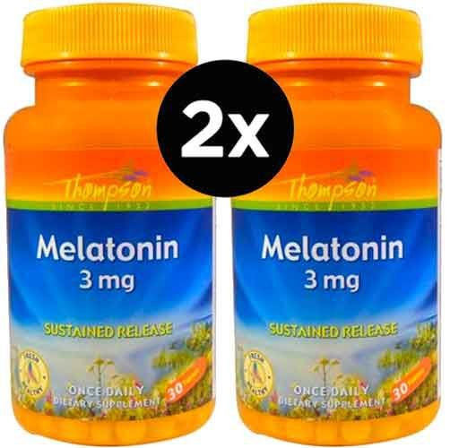 2X Melatonina Thompson, 3mg, 30 comprimidos (TOTAL DE 60 COMPRIMIDOS)