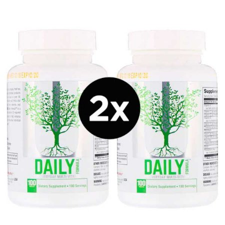 2X Universal Nutrition, Fórmula diária, o multivitamínico para todos os dias, 100 comprimidos