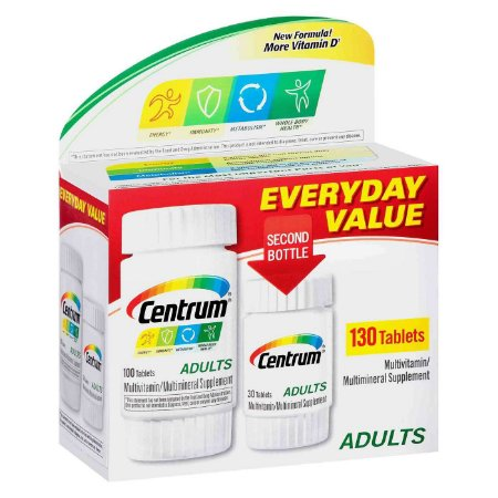 CENTRUM ADULTOS PACK COM 130 COMPRIMIDOS