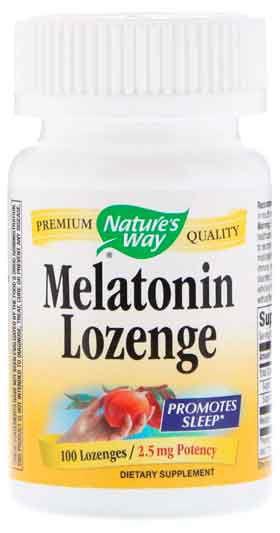 Melatonina de Pastilhas, Nature's Way, 2,5 mg, 100 Drágeas