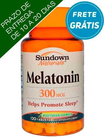 Melatonina, 300mcg, Sundown Naturals, 120 comprimidos vegetarianas