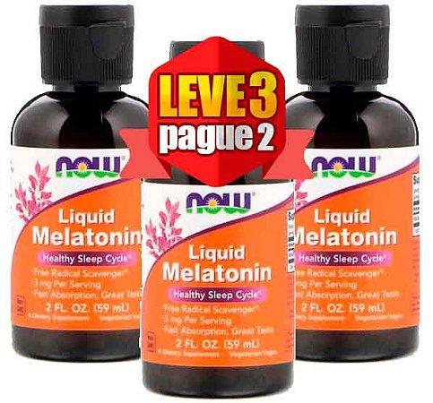 Leve 3 Pague 2 - Melatonina Liquida 3mg (60 ml) - Now Foods