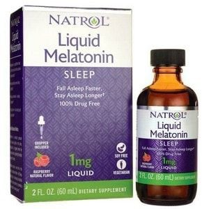 Melatonina Liquida 1mg - (60 ml) -Natrol