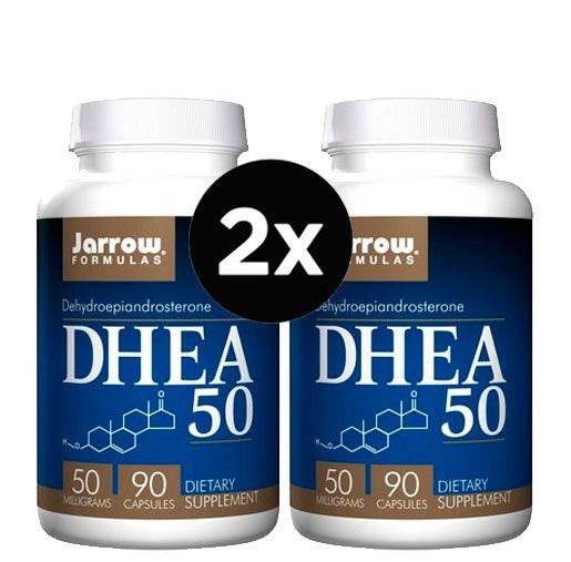 2x DHEA 50 mg - Jarrow Formulas - 90 cápsulas