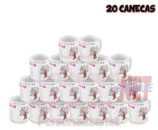 20 Canecas Personalizadas em Porcelana - Casamento - K3