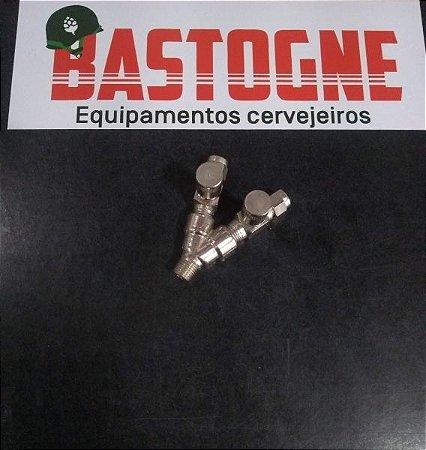 Válvula agulha de Co2 saída dupla ajuste idividual