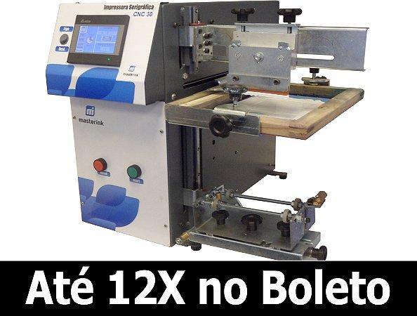 Máquina Serigráfica Elétrica Ajuste Digital CNC 30 para impressão em Copos Acrilicos, Taças, Canecas, Vidros.