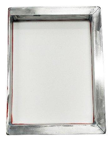 Tela Serigrafia 26x36cm 120 Fios POLIÉSTER Branco Quadro em Aluminio com uma Borda de 5mm