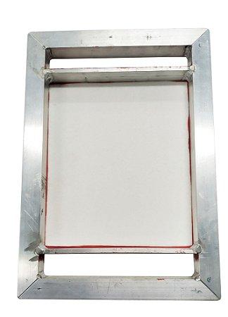Tela Serigrafia 20x23cm 120 Fios POLIÉSTER Branco Quadro em Aluminio para Canecas de 7cm Diametro
