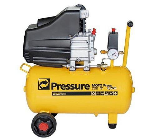 Compressor de Ar Pressure MOTO PRESS 8,2 2HP 25 Lts