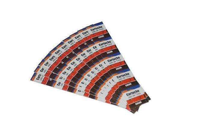 Etiqueta Neutra para Cartuchos Jato de Tinta Color- Pct c/ 100