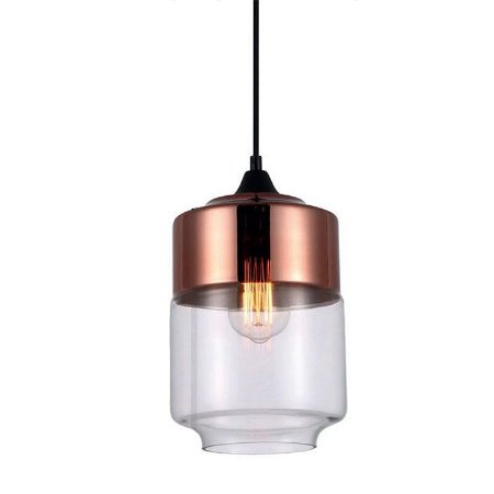 Pendente Vidro Lanterna Bi-Color PE-044