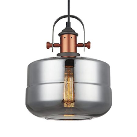 Pendente Vidro Fumê Lanterna Bojo PE-041