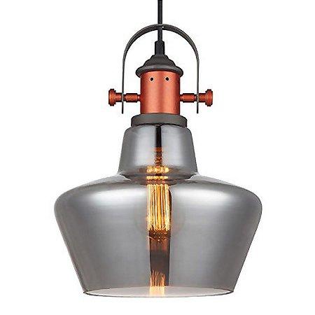 Pendente Vidro Fumê Lanterna Taça PE-042