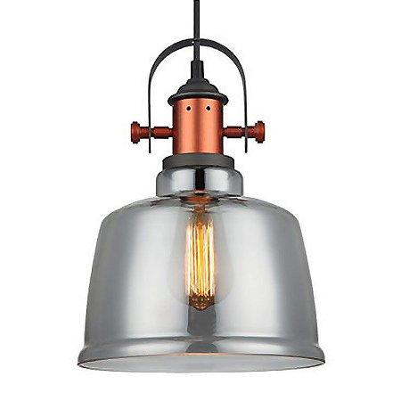 Pendente Vidro Fumê Lanterna Baila PE-043