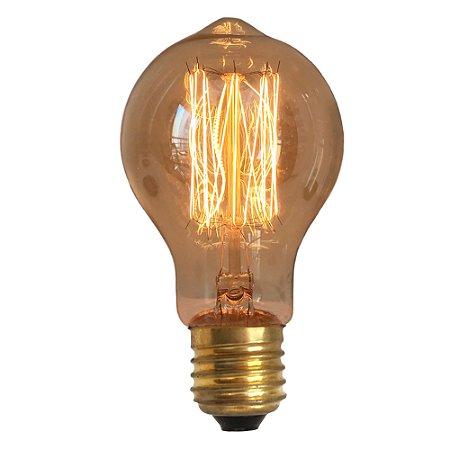 Lâmpada Retrô Filamento Carbono A19 40W