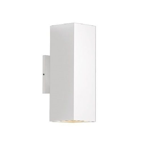 Arandela Aluminio Quadrada 2 luzes 30cm 30515