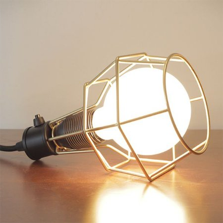 Luminária Aramado de Mesa Pucon M203 Golden Arte de 17cm de Altura