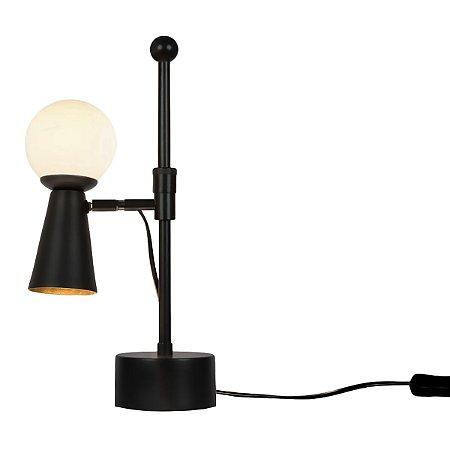 Luminária Latão Golden Art Pivô com Bola de Vidro Regulável M9900