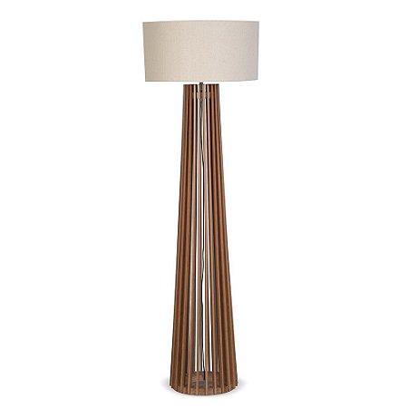 Luminária Coluna de Chão em Imbuia 1051-03 Trevisan