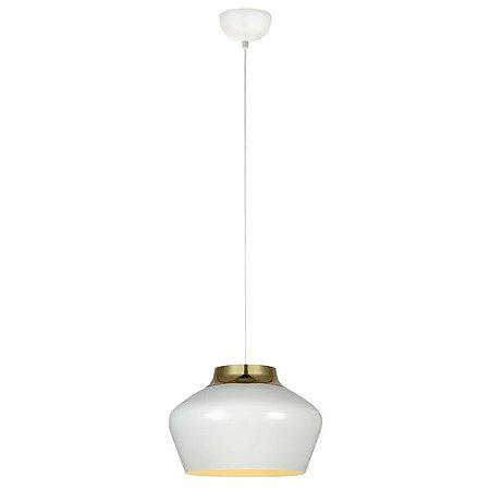 Luminária Pendente em Metal Branco Premier 106420