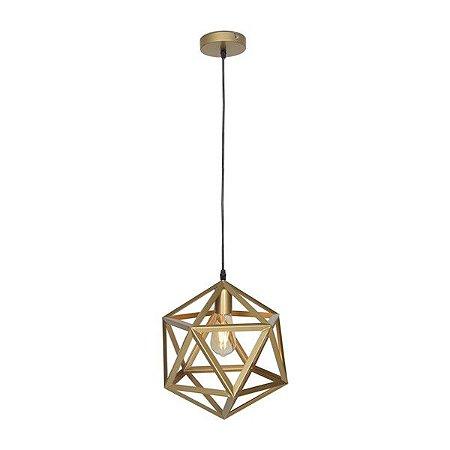 Luminária Pendente Aramado Dourado Premier P17075 Gold