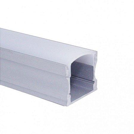 Perfil De Alumínio Para Sobrepor com Difusor Alto EKPF12
