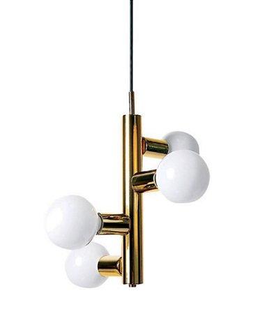 Luminária Pendente Metal 4 Esferas em Vidro Vitage NewLine Pd936
