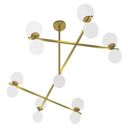 Lustre Luminária Gangorra Sadalla Design Golden Art T1860-13