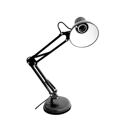 Arandela Luminária Desk Lamp Haste Articulável Base Redonda ou Garra