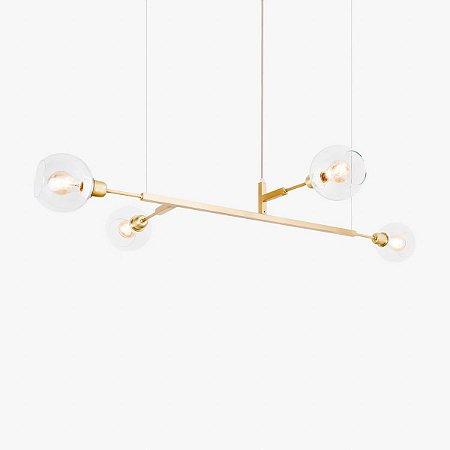 Lustre Pendente Quattro 100 Glass Golden Art T44100-V
