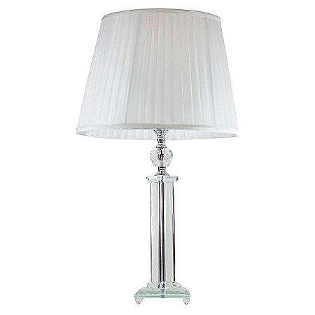 Abajur de Mesa em Cristal 732 56 cm com Cúpula Branca