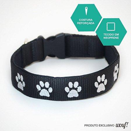 Coleira de Identificação para Cachorro - Fita Preta