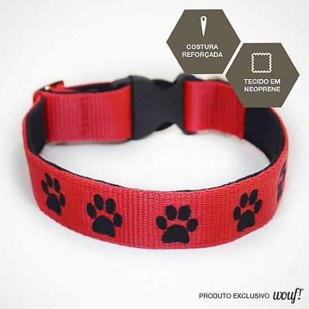 Coleira de Identificação para Cachorro - Fita Vermelha