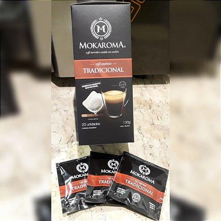 Café Expresso Mokaroma Tradicional - Box com 20 Sachês